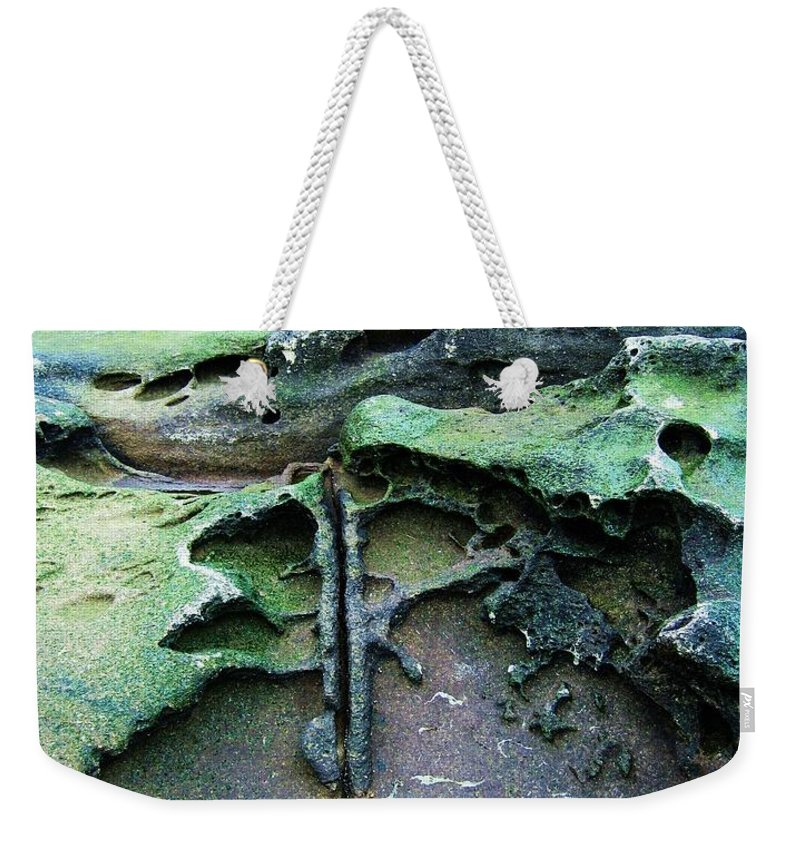 Photograph Rock Beach Ocean Weekender Tote Bag featuring the photograph Time Washed Out by Seon-Jeong Kim