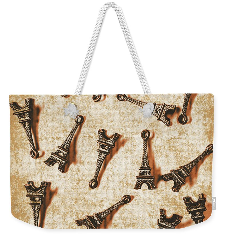 France Weekender Tote Bag featuring the photograph Time Worn Trinkets From Vintage Paris by Jorgo Photography - Wall Art Gallery