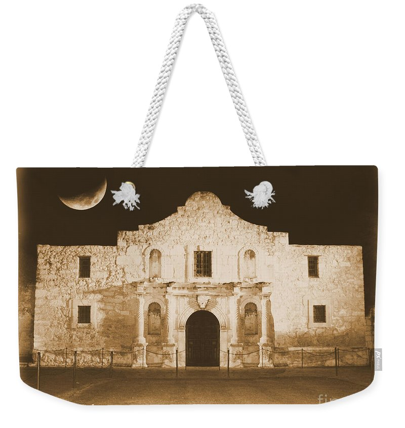 The Alamo Weekender Tote Bag featuring the photograph Timeless Alamo by Carol Groenen
