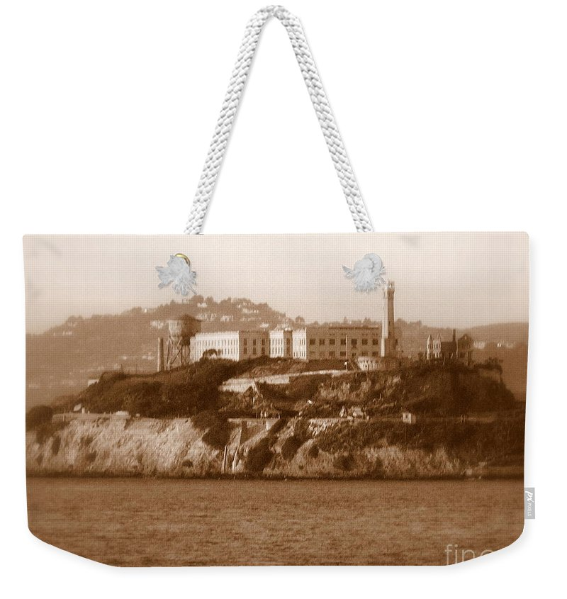 San Francisco Weekender Tote Bag featuring the photograph Timeless Alcatraz by Carol Groenen