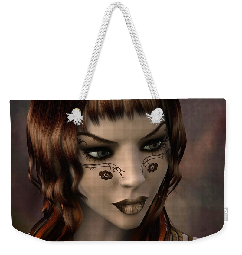 3d Weekender Tote Bag featuring the digital art Timeless Grace by Jutta Maria Pusl