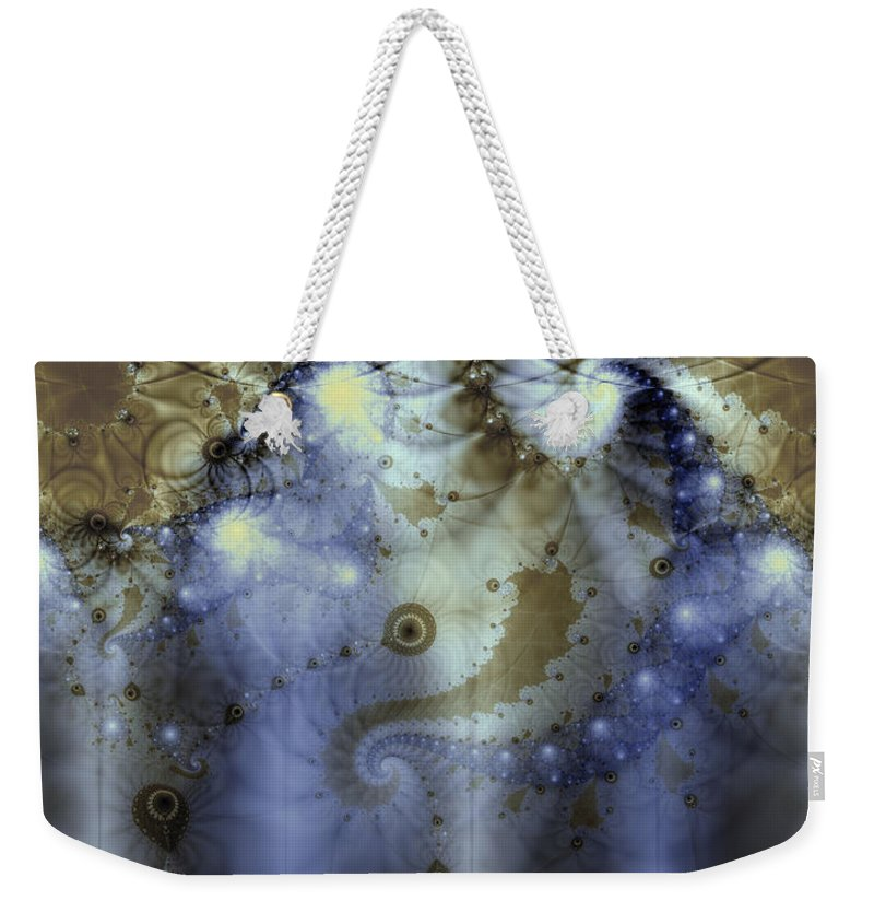 Blue Weekender Tote Bag featuring the digital art Timeline Of History by Casey Kotas