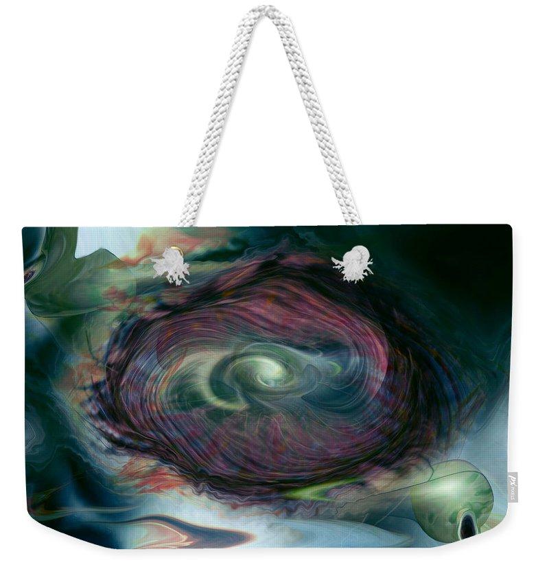 Space Art Weekender Tote Bag featuring the digital art Timewarp by Linda Sannuti