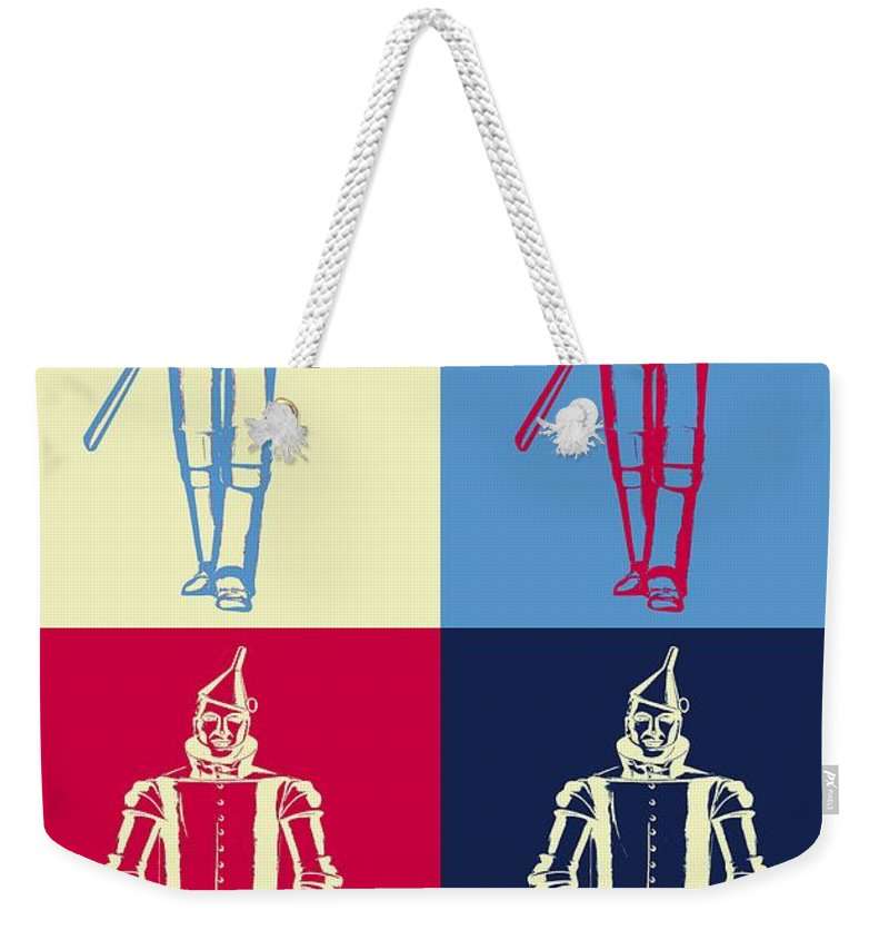 Tin Man Weekender Tote Bag featuring the digital art Tin Man Pop Art Poster by Dan Sproul