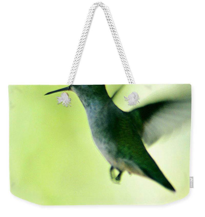 Clay Weekender Tote Bag featuring the photograph Tiny And Fast by Clayton Bruster