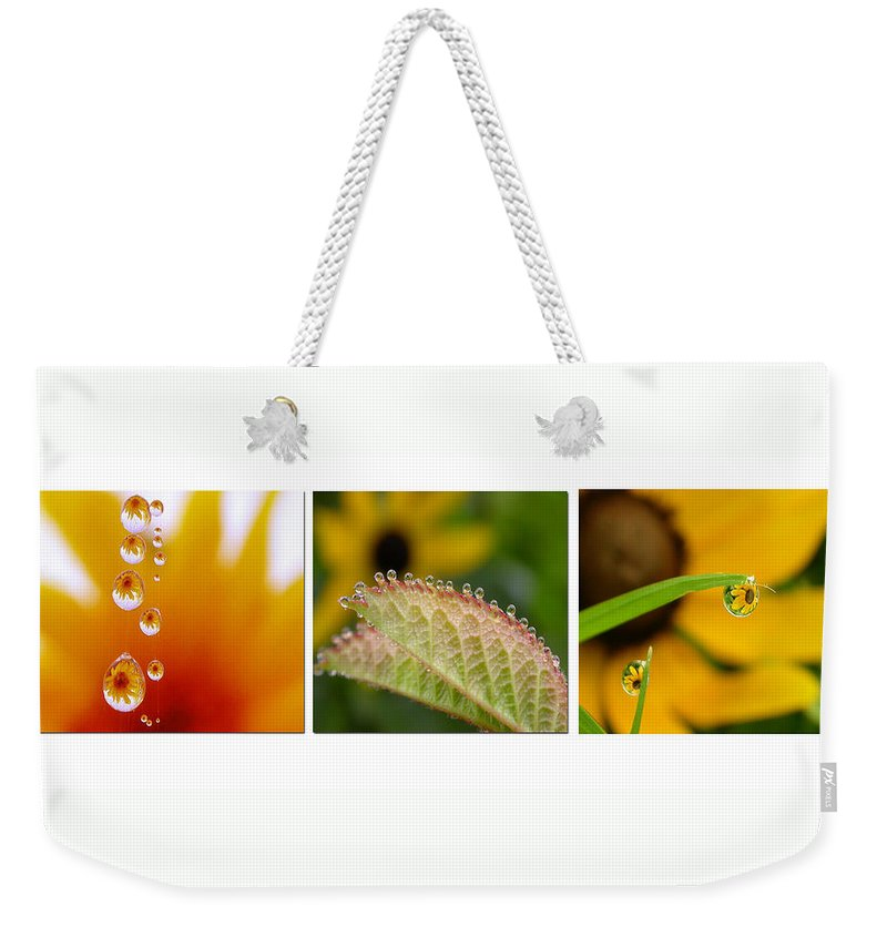 Dew Weekender Tote Bag featuring the photograph Tiny Miracles by Linda Murphy