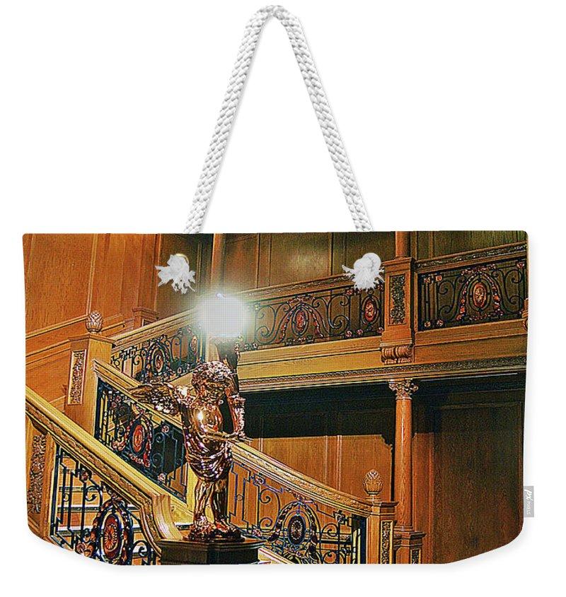 Titanic Weekender Tote Bag featuring the digital art Titanics Grandeur by DigiArt Diaries by Vicky B Fuller