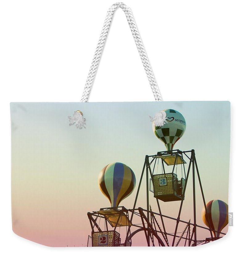Copenhagen Weekender Tote Bag featuring the photograph Tivoli Balloon Ride by Linda Woods