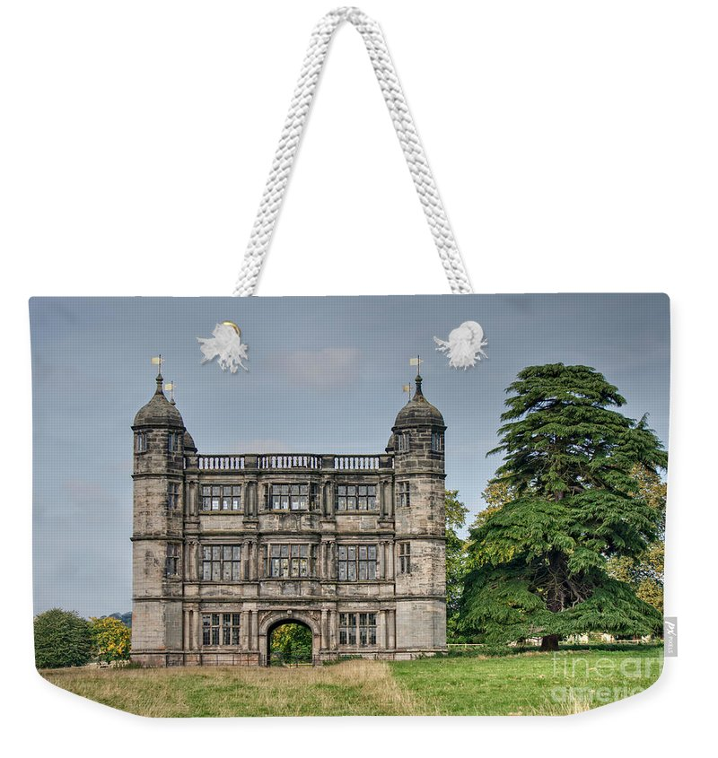Architecture Weekender Tote Bag featuring the photograph Tixall Gatehouse by Mickey At Rawshutterbug