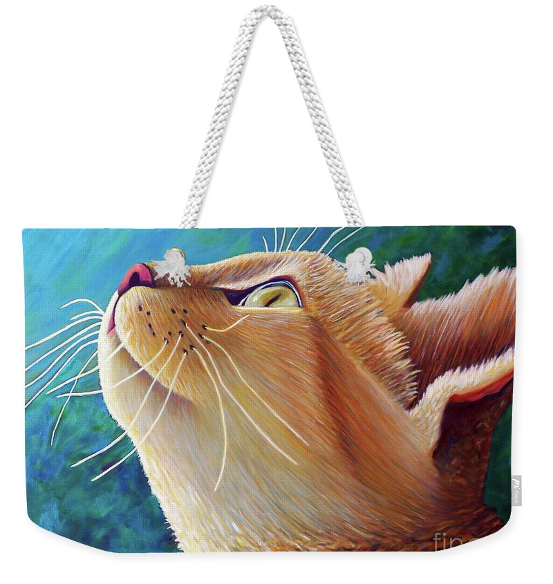 Cat Weekender Tote Bag featuring the painting To Be With You by Brian Commerford