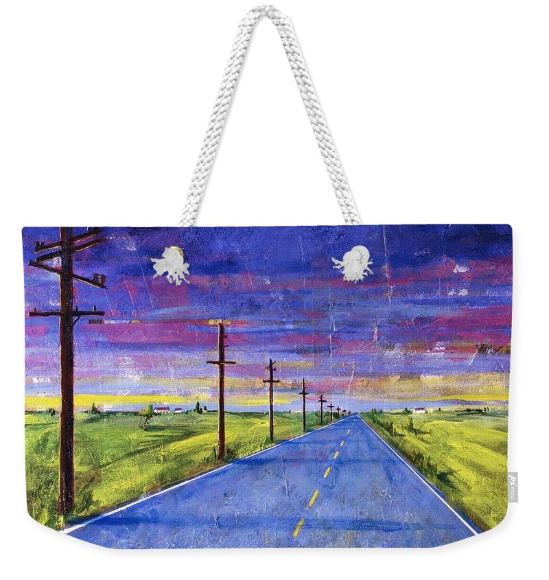 Road Weekender Tote Bag featuring the painting To Be With You by Rollin Kocsis