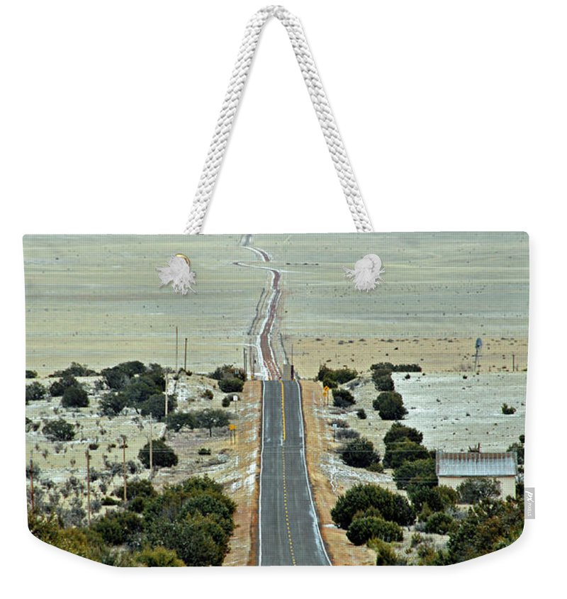 Road Weekender Tote Bag featuring the photograph To Eternity by David Arment