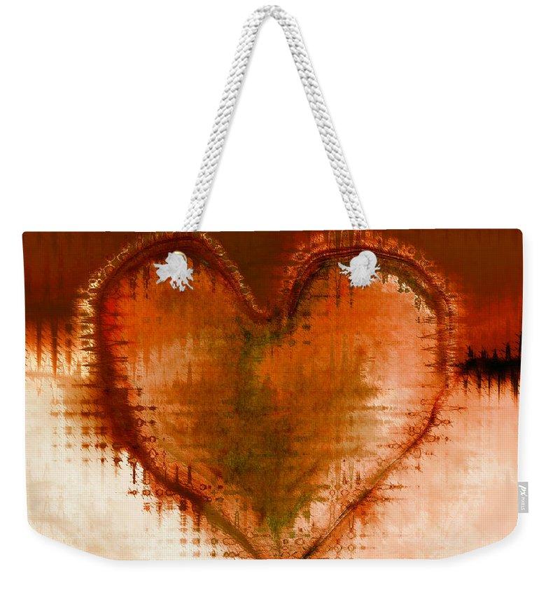Love Art Weekender Tote Bag featuring the digital art To Heart by Linda Sannuti
