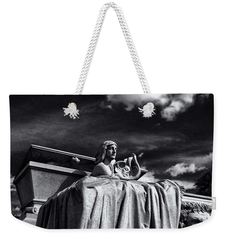 Cemetery Weekender Tote Bag featuring the photograph To The Heavens by Scott Wyatt
