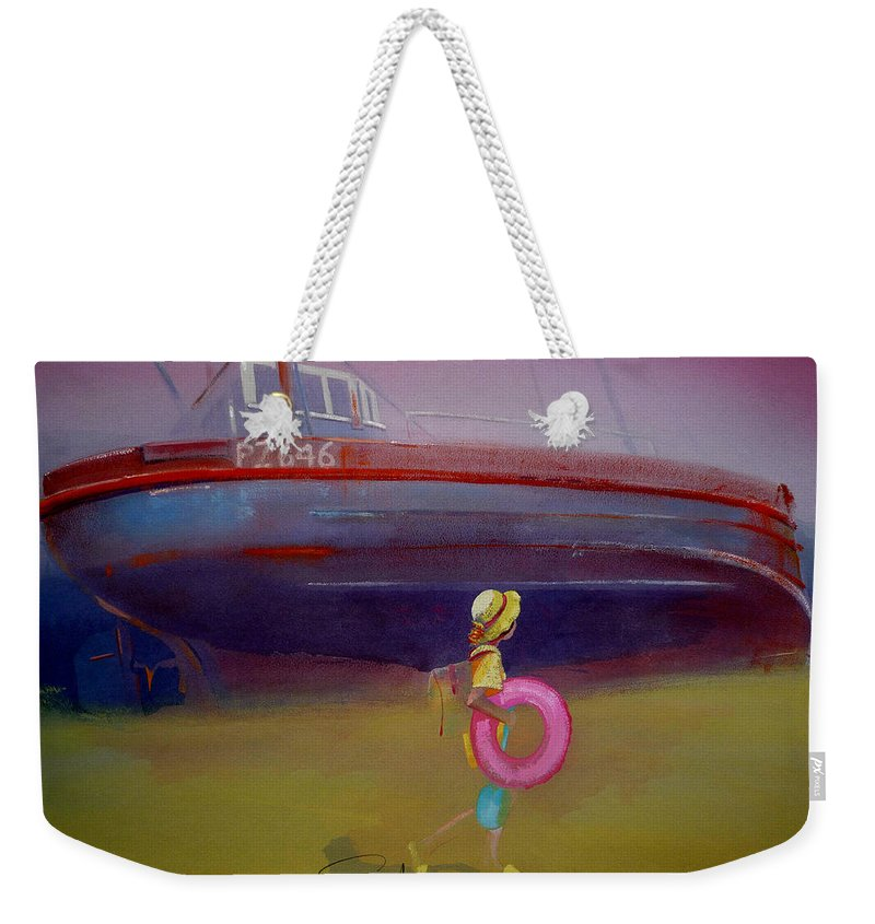 Penzance Weekender Tote Bag featuring the painting To The Lighthouse by Charles Stuart