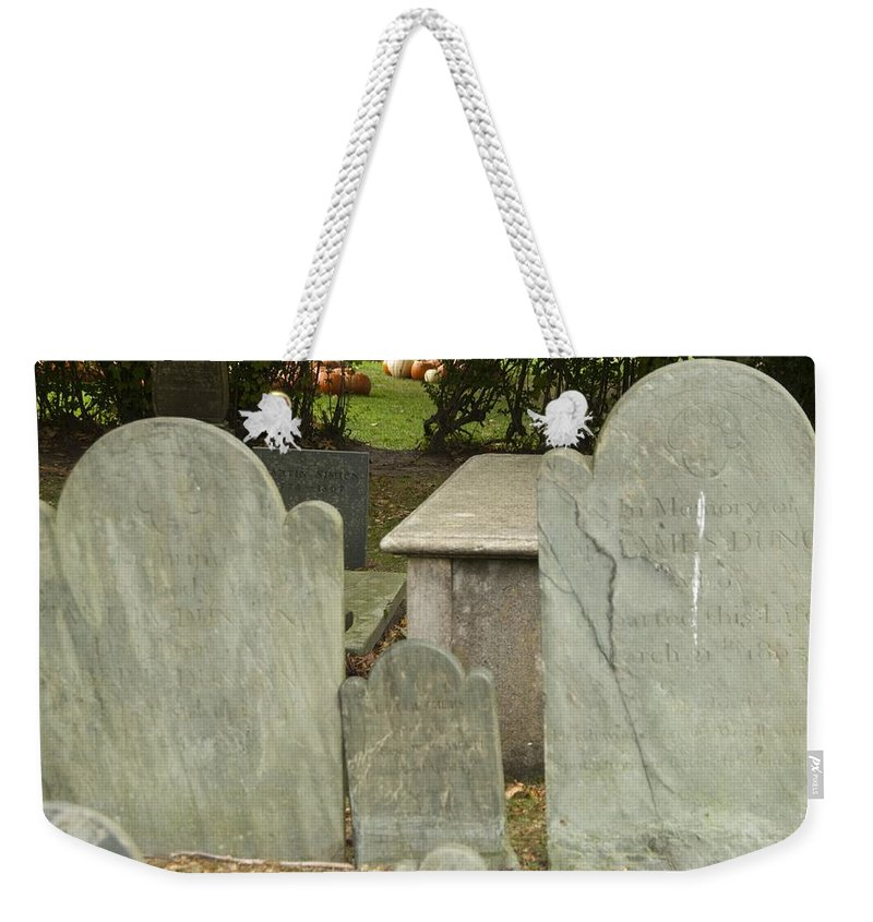 Pumpkin Weekender Tote Bag featuring the photograph To The Pumpkin Patch by Steven Natanson