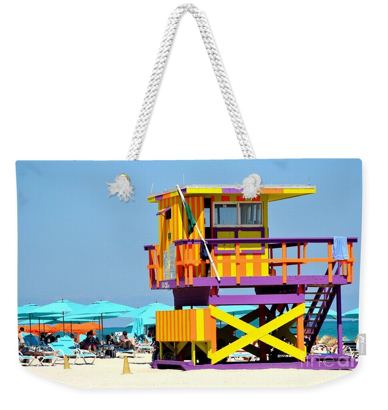 Miami Beach Weekender Tote Bag featuring the photograph To The Rescue 5 by Rene Triay Photography