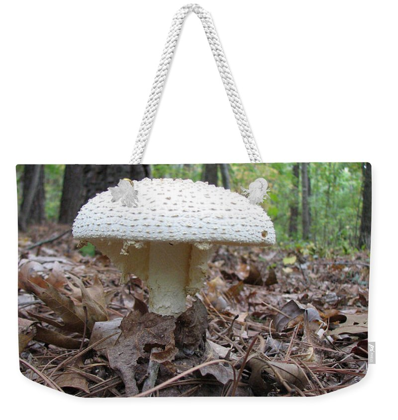 Mushroom Weekender Tote Bag featuring the photograph Toad Stool V by Stacey May