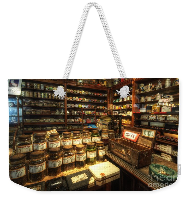 Art Weekender Tote Bag featuring the photograph Tobacco Jars by Yhun Suarez