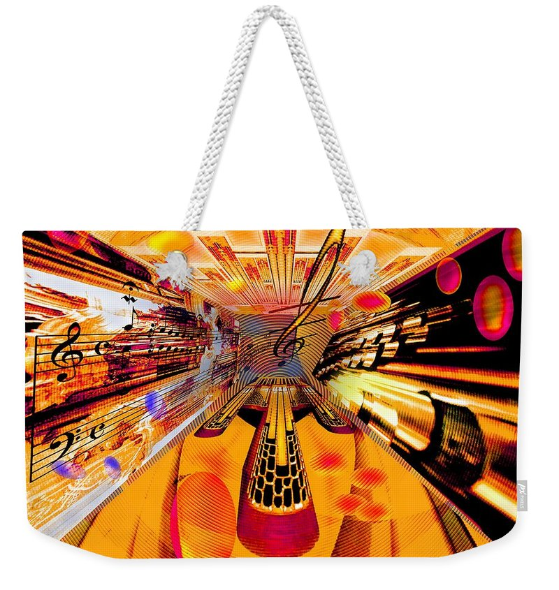 Toccata Weekender Tote Bag featuring the digital art Toccata- MASTERS View by Helmut Rottler