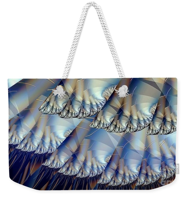 Fractal Art Weekender Tote Bag featuring the digital art Toes And Tentacles by Ron Bissett