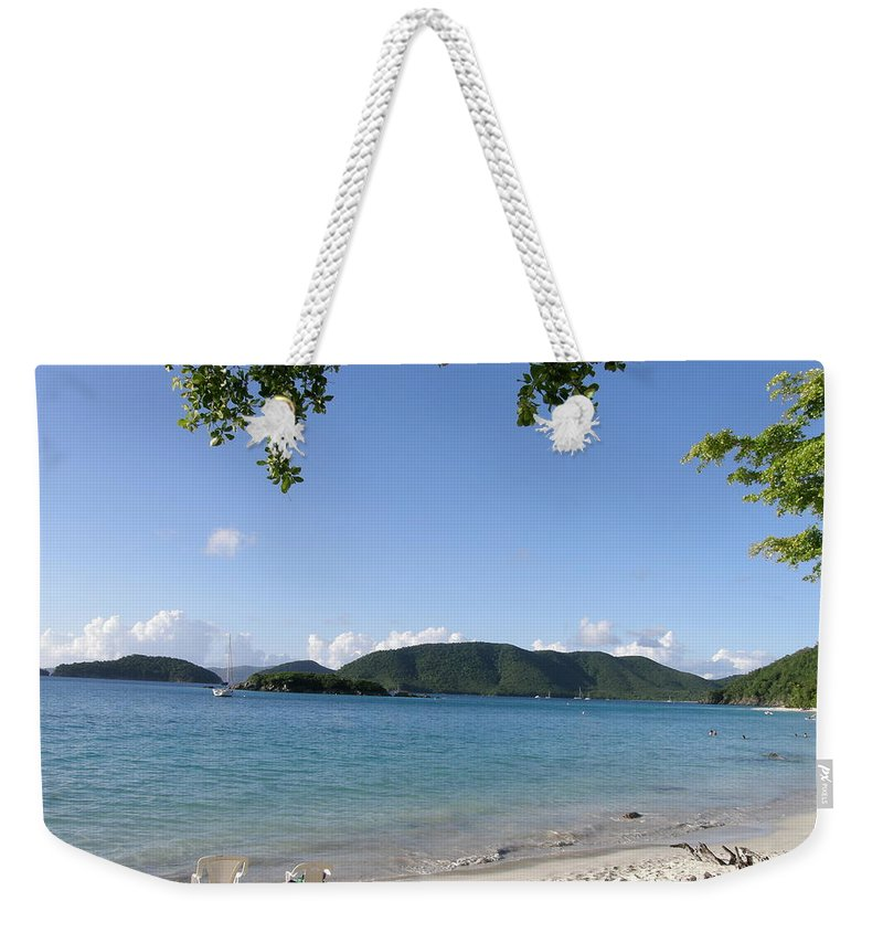 Nature Weekender Tote Bag featuring the photograph Toes In The Waves by Kimberly Mohlenhoff
