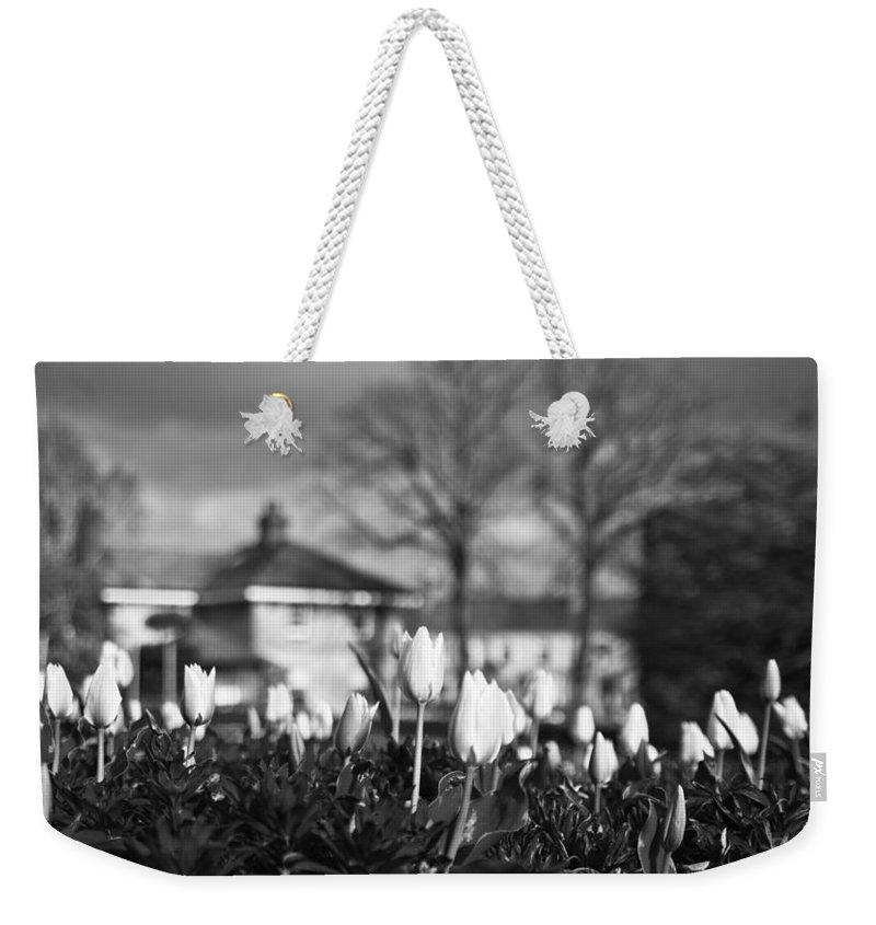 Garden Weekender Tote Bag featuring the photograph Together Bw by Alex Art and Photo