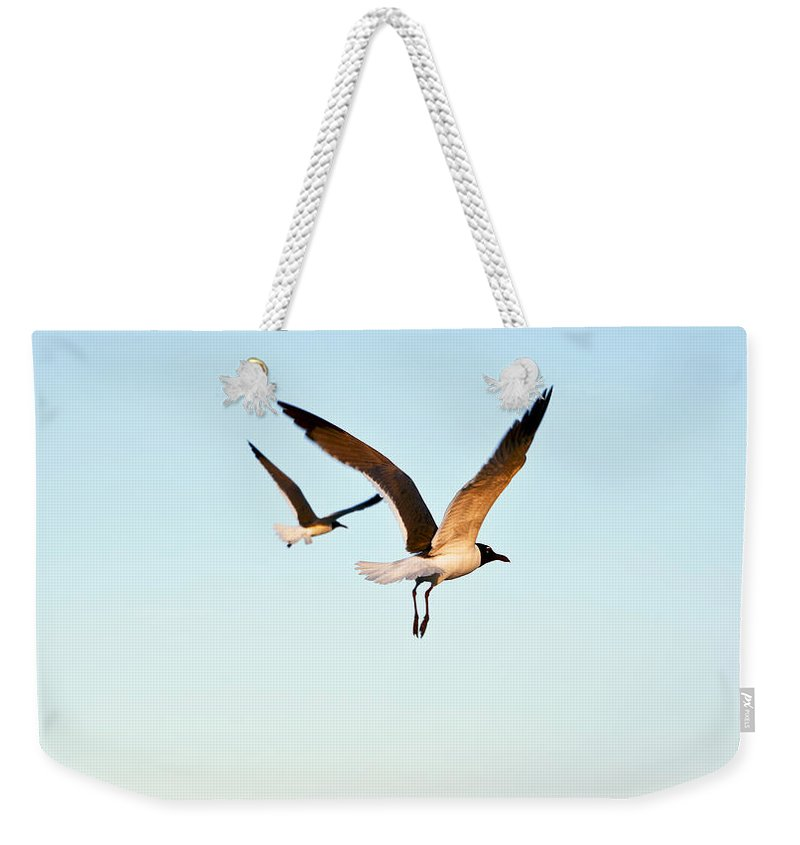 Two Weekender Tote Bag featuring the photograph Together by Marilyn Hunt