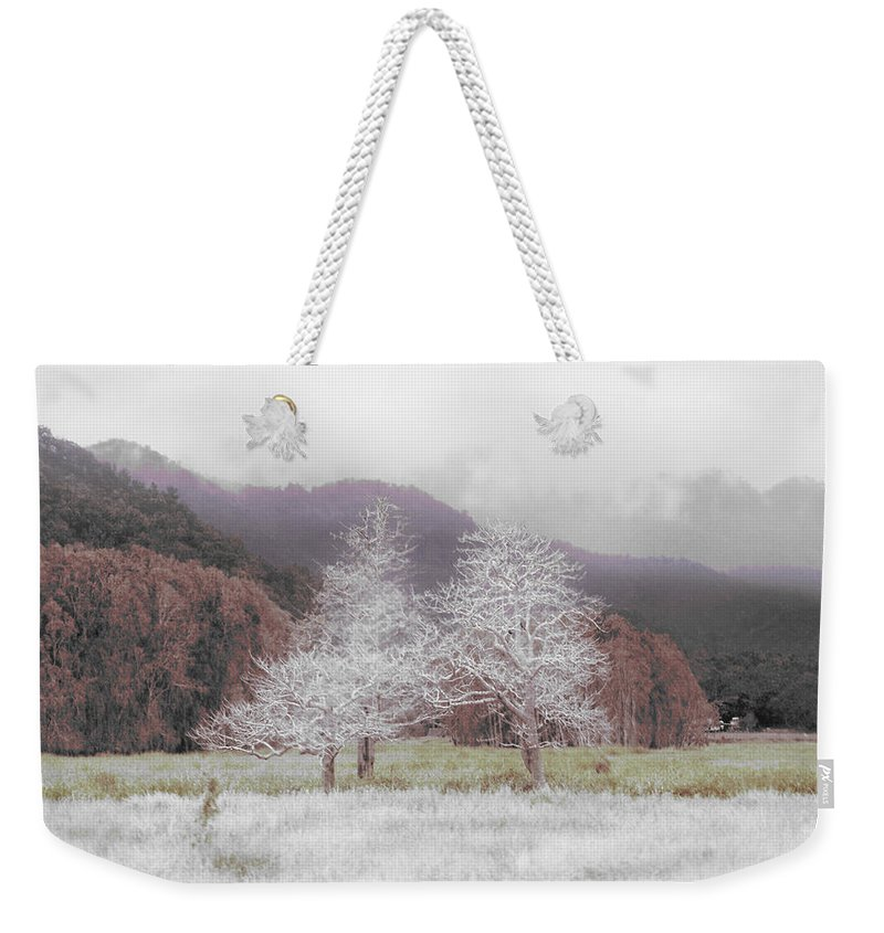 Landscape Weekender Tote Bag featuring the photograph Together We Stand by Holly Kempe