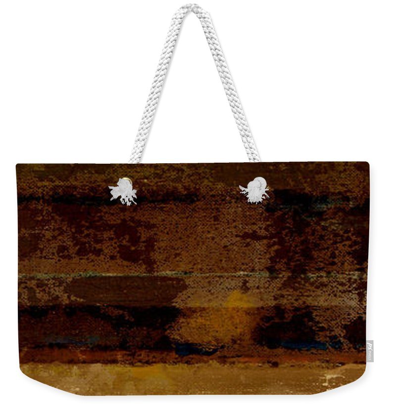 Abstract Weekender Tote Bag featuring the painting Togetherness II by Ruth Palmer