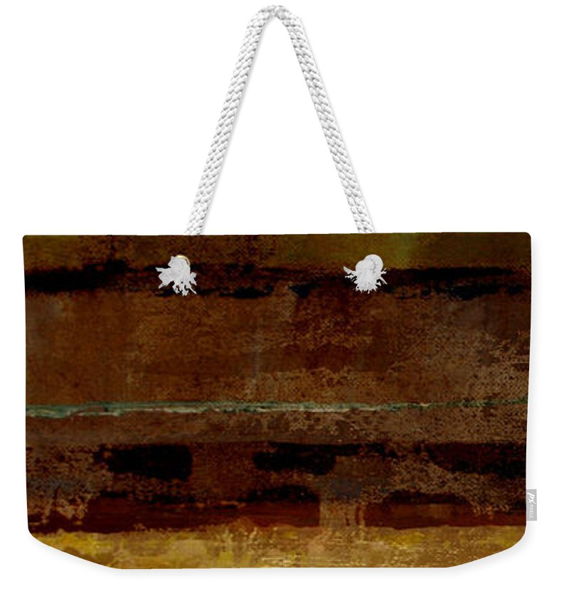 Abstract Weekender Tote Bag featuring the painting Togetherness by Ruth Palmer