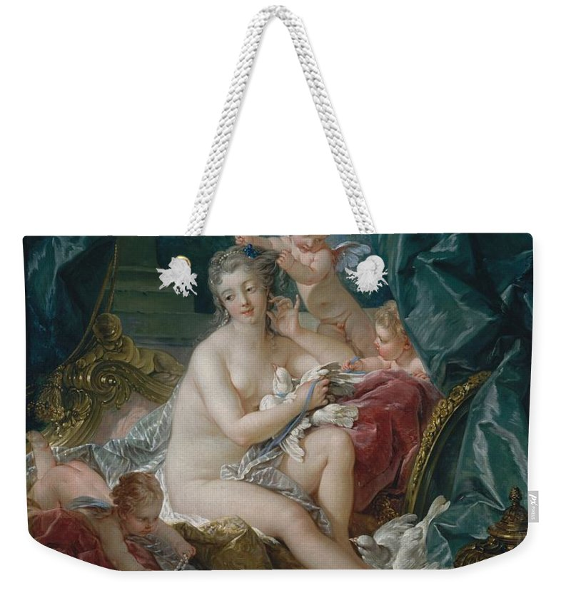 Francois Weekender Tote Bag featuring the painting Toilet Of Venus by Francois Boucher