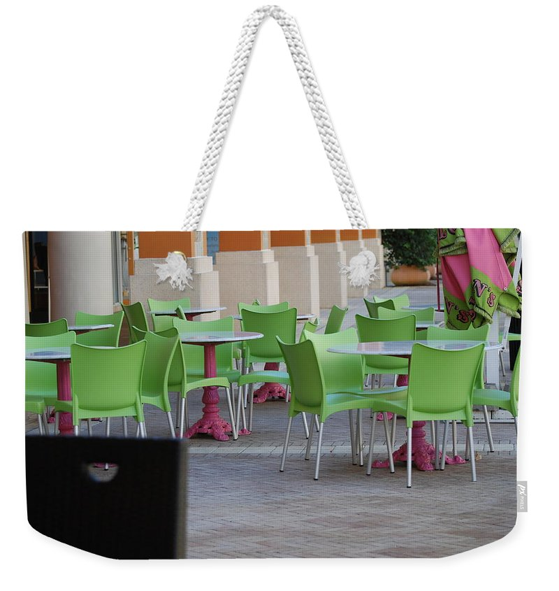 Chairs Weekender Tote Bag featuring the photograph Token Chair by Rob Hans