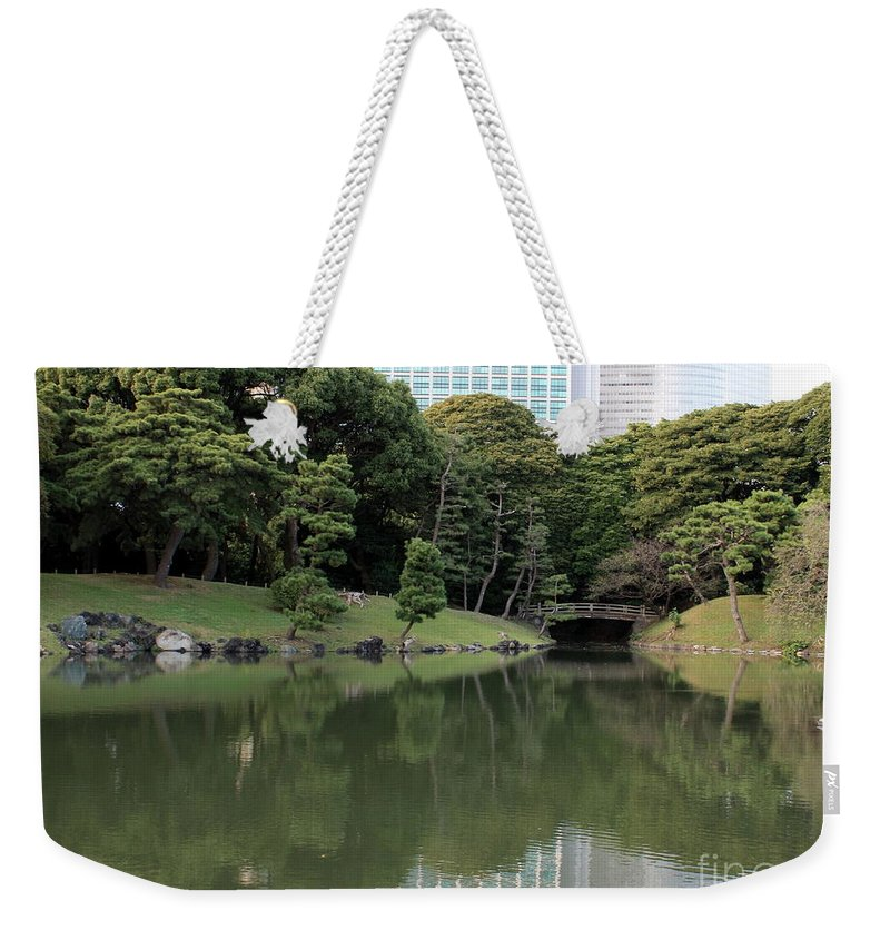 Japan Weekender Tote Bag featuring the photograph Tokyo Japanese Garden by Carol Groenen