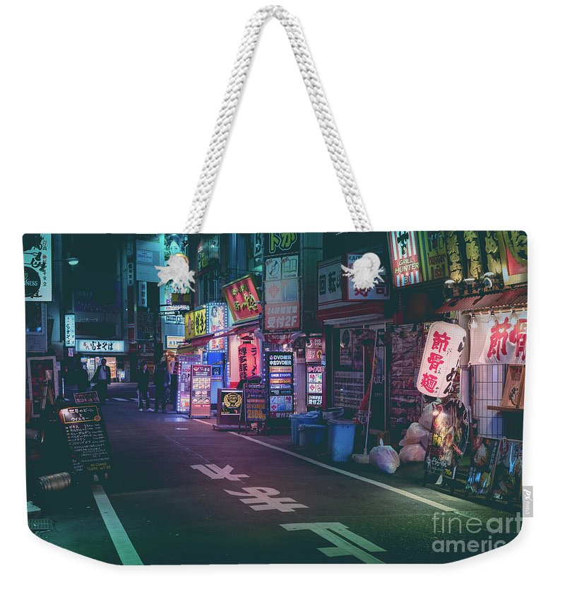 Tokyo Weekender Tote Bag featuring the photograph Tokyo Side Streets, Japan by Perry Rodriguez