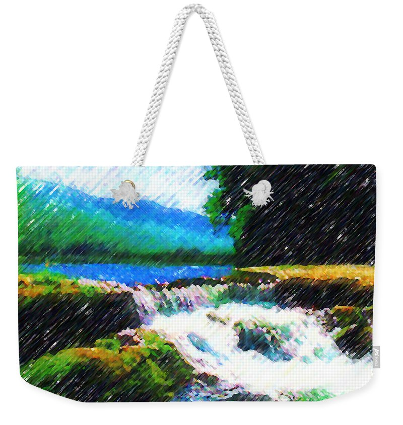Landscape Weekender Tote Bag featuring the photograph Tolhuaca by Madalena Lobao-Tello