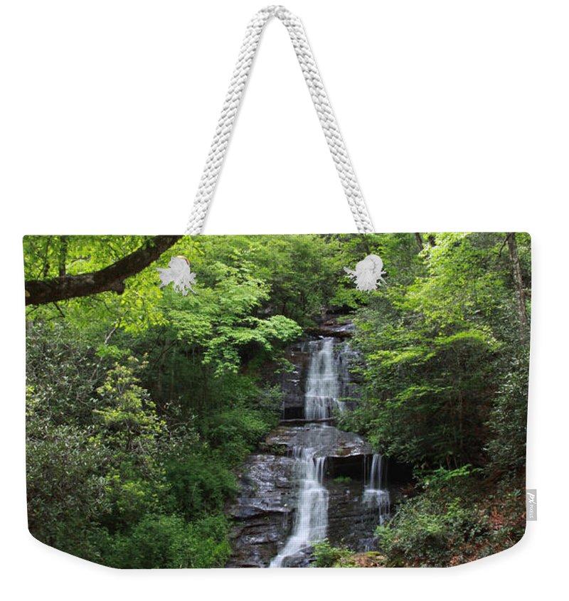 Falls Weekender Tote Bag featuring the photograph Tom Branch Falls - Gsmnp by Shari Jardina