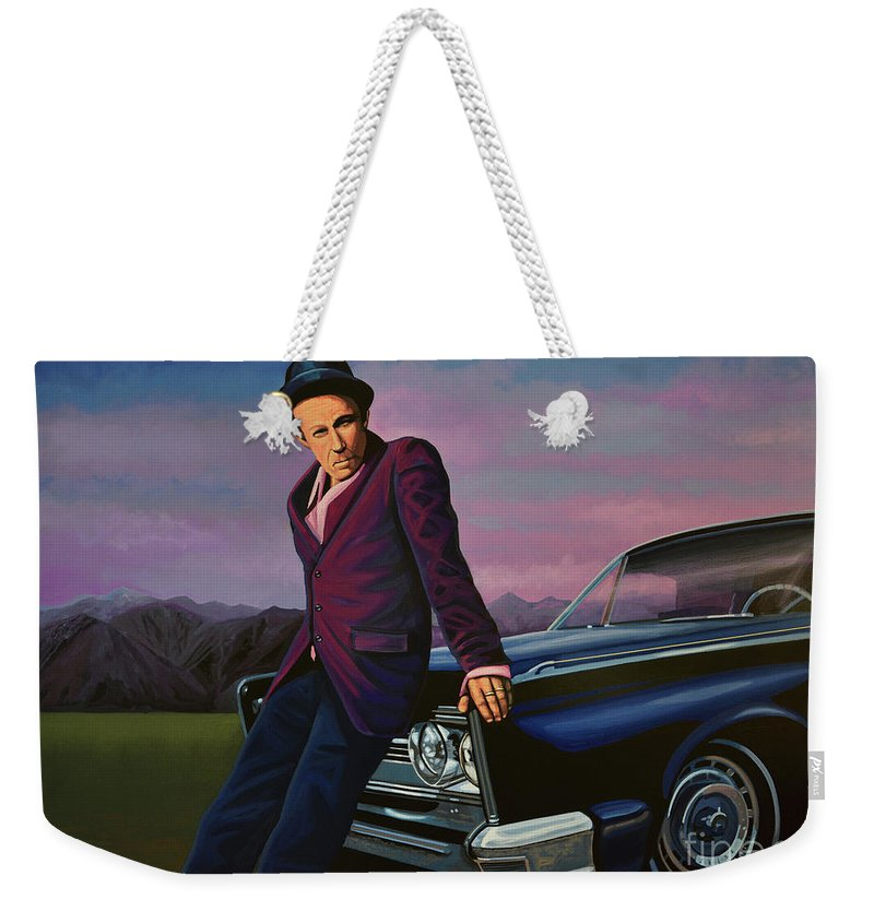 Tom Waits Weekender Tote Bag featuring the painting Tom Waits by Paul Meijering