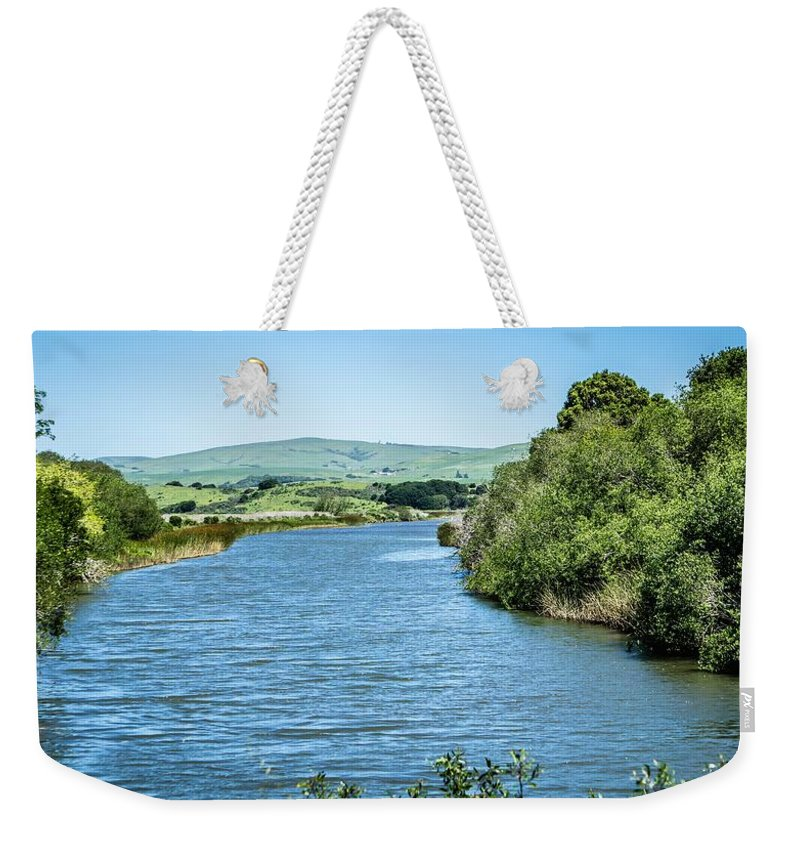 House Weekender Tote Bag featuring the photograph Tomales Bay In Point Reyes National Seashore Park Near San Franc by Alex Grichenko