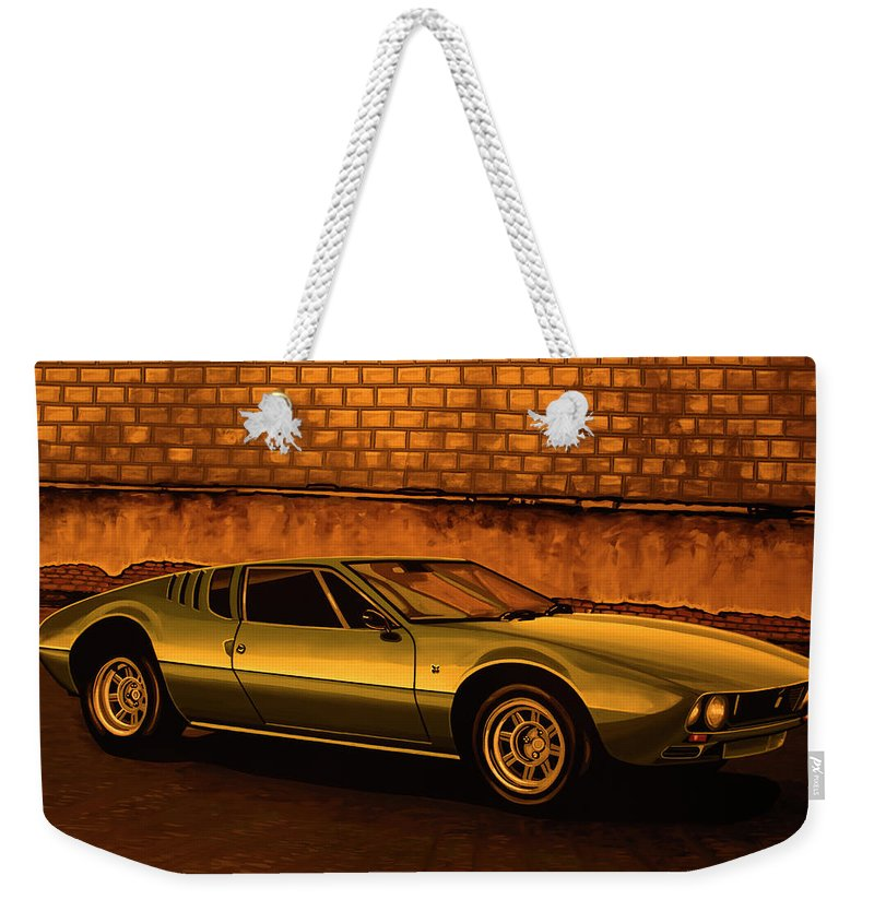 Tomaso Mangusta Weekender Tote Bag featuring the painting Tomaso Mangusta Mixed Media by Paul Meijering