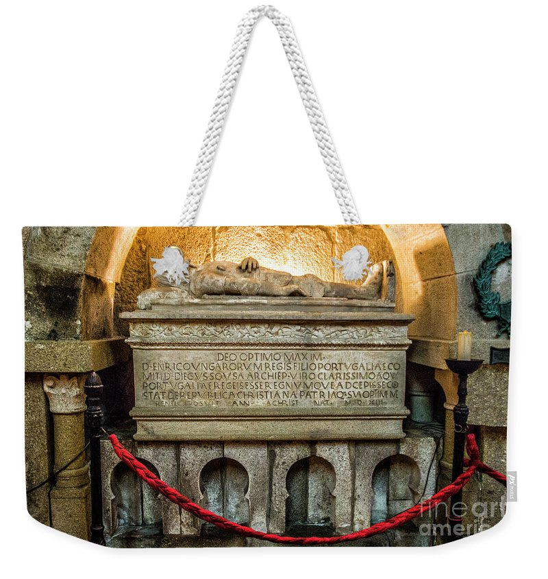Braga Weekender Tote Bag featuring the photograph Tomb Of Dom Henrique by Roberta Bragan