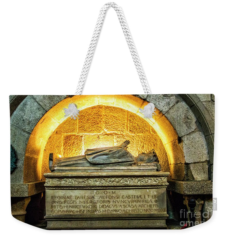 Tomb Weekender Tote Bag featuring the photograph Tomb Of Dona Teresa by Roberta Bragan