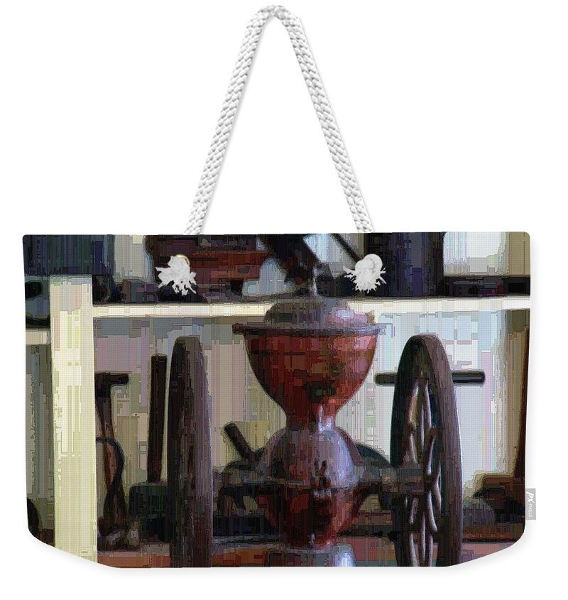 Americana Weekender Tote Bag featuring the digital art Tools For The Times by RC DeWinter