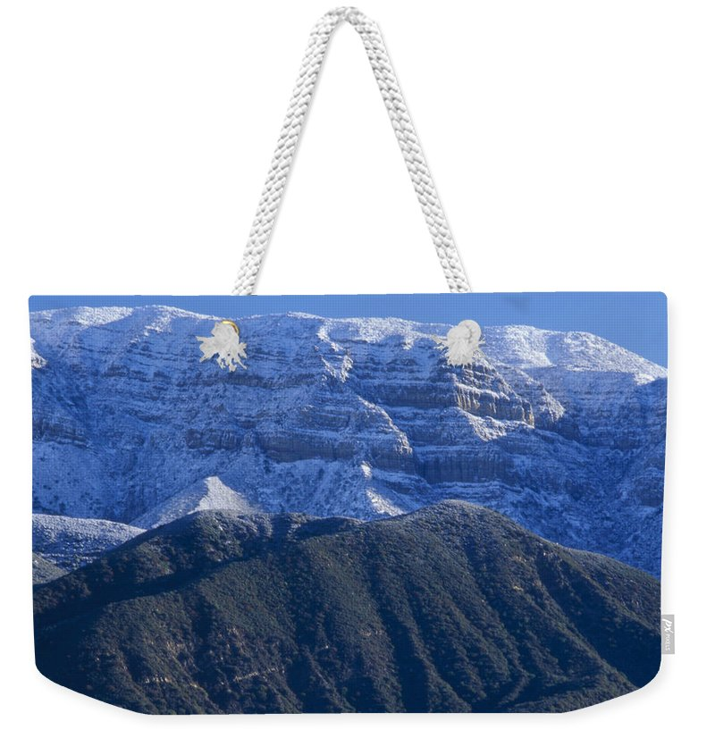 Los Padres National Forest Ca. Weekender Tote Bag featuring the photograph Topa Topa Bluff by Soli Deo Gloria Wilderness And Wildlife Photography