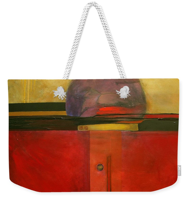 Abstract Weekender Tote Bag featuring the painting Tops by Marlene Burns