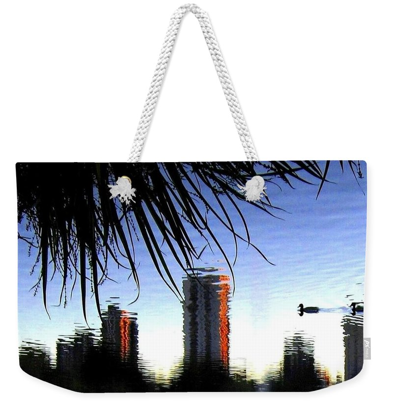 Sunset Weekender Tote Bag featuring the photograph Topsy-turvy by Will Borden
