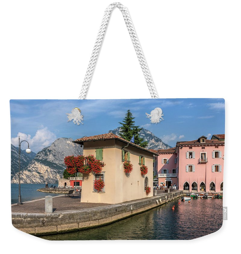 Torbole Weekender Tote Bag featuring the photograph Torbole - Italy by Joana Kruse