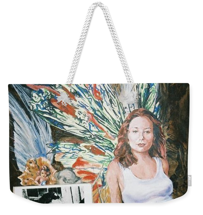 Tori Amos Weekender Tote Bag featuring the painting Tori Amos by Bryan Bustard