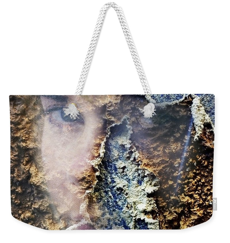 Female Weekender Tote Bag featuring the photograph Torn by Skip Hunt