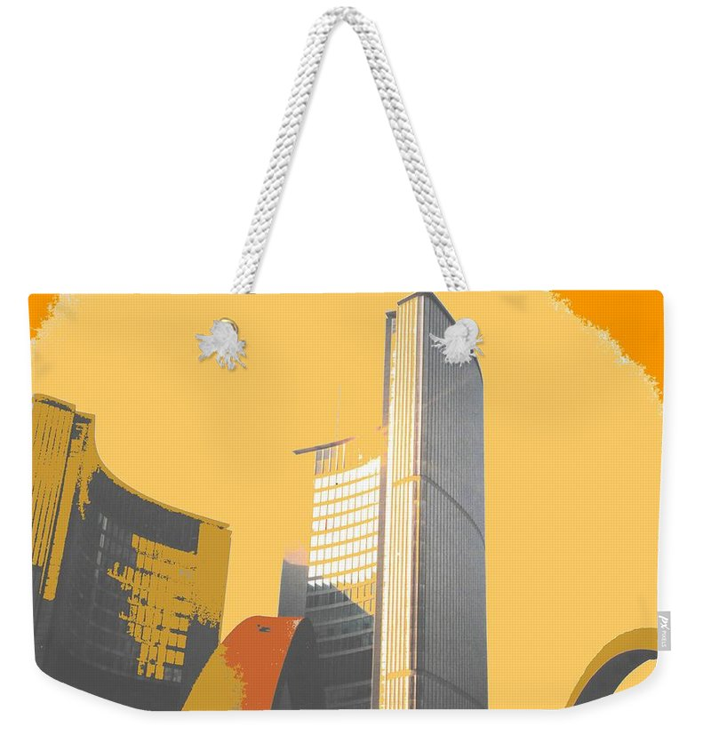 Toronto Weekender Tote Bag featuring the photograph Toronto City Hall Arches by Ian MacDonald
